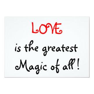 "Love is the greatest Magic of all !-invitations 5"" X 7"" Invitation Card"