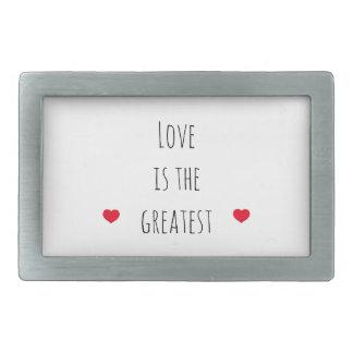 Love is the Greatest Rectangular Belt Buckle