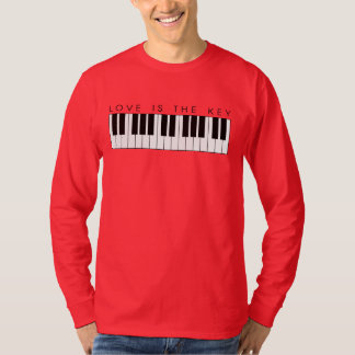 LOVE IS THE KEY PIANO SHIRT