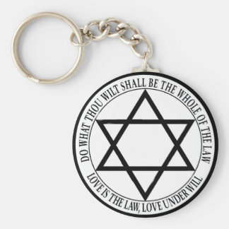 love is the law basic round button keychain