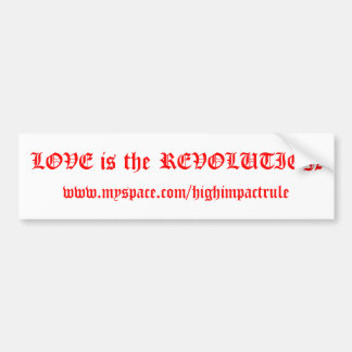LOVE is the REVOLUTION High Impact sticker