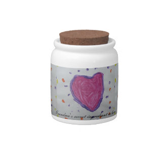 Love is the secret ingrediant candy dishes