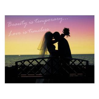 love is timeless postcard