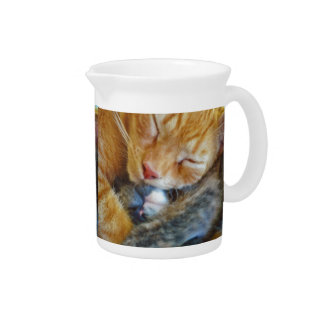 Love Is... Two Sleeping Kittens Cat-lovers Gift Beverage Pitchers