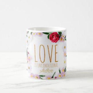 Love is Unconditional, pink daisy Coffee Mug