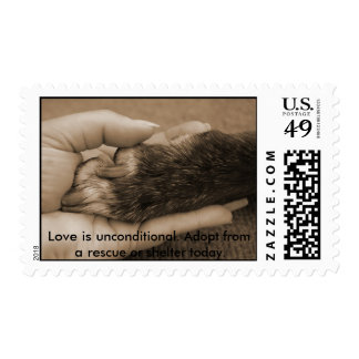 , Love is unconditional. Postage