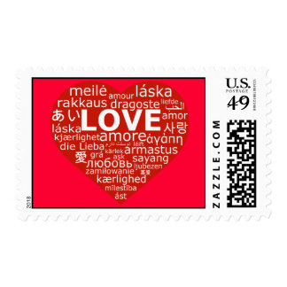 Love is universal postage stamp