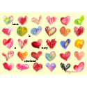 Love is... Valentine Hearts Card card