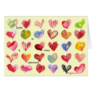 Love is... Valentine Hearts Card