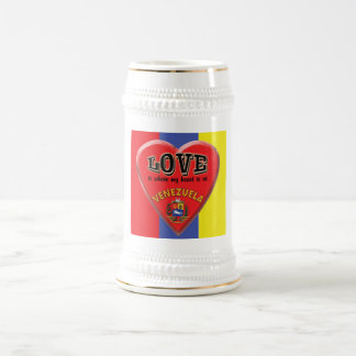 Love is Venezuela Beer Mug