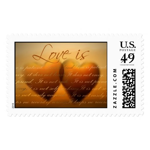 Love is ... wedding heart stamp
