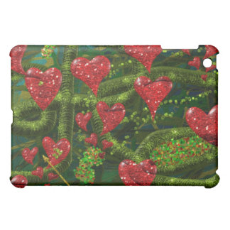 Love is Weird - Red Hearts on Strange Abstract iPad Mini Cases