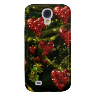 Love is Weird - Red Hearts on Strange Abstract Samsung S4 Case