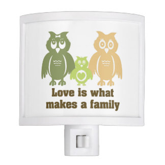 Love is what makes a family night light