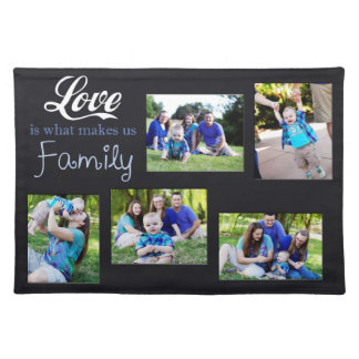 Love Is What Makes Us Family Collage Place Mats