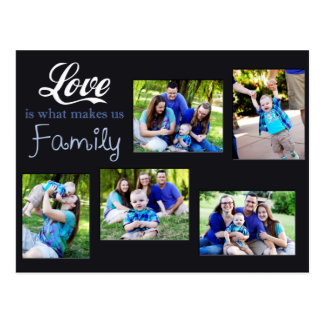 Love Is What Makes Us Family Collage Postcard