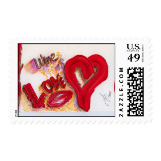 LOve is wine Stamps