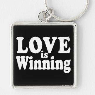 Love is Winning Keychain Dark