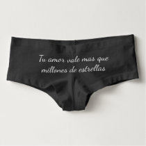 Love is worth more than a million stars (Spanish) Boyshorts