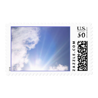 Love is written in the clouds. postage
