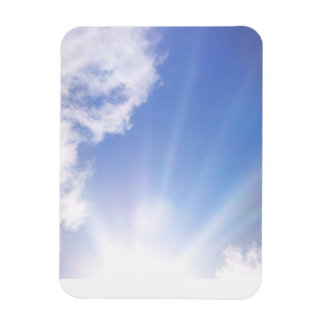 Love is written in the clouds. rectangular photo magnet
