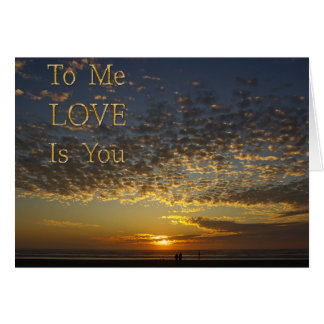 love is you, anniversary card
