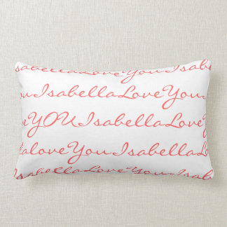 Love Isabella Personalized Name Pillow for Girls