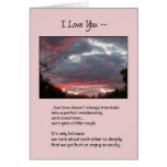 Love Isn't Always Perfect...Relationships Card