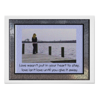 Love isn't love - love quote - art print