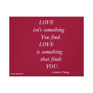 LOVE ISN'T SOMETHING CUSTOM CANVAS