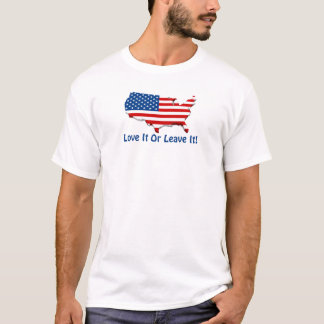 Love It America Men's Basic T T-Shirt