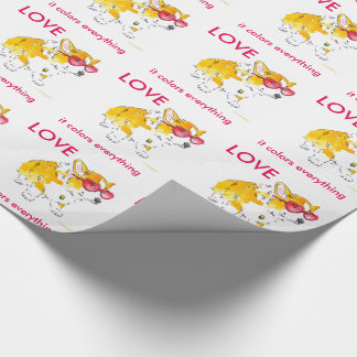 Love It Colors Everything Corgi Wrapping Paper