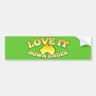 Love it Down under Aussie Australian shop Design Bumper Stickers