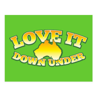 Love it Down under Aussie Australian shop Design Postcard