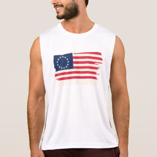 Tee Hunt God Bless America Muscle Shirt Patriotic USA Independence 4th of July Sleeveless