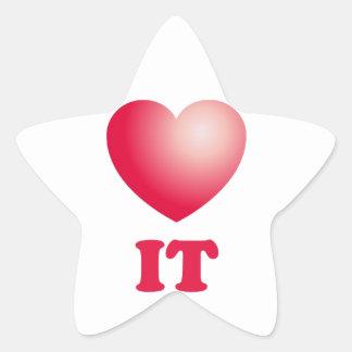 love it star sticker