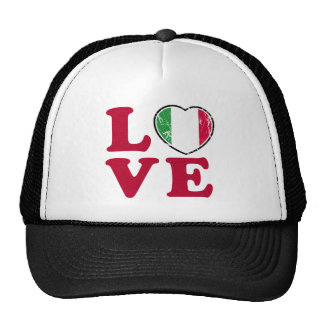 Love Italian Flag Heart Trucker Hat