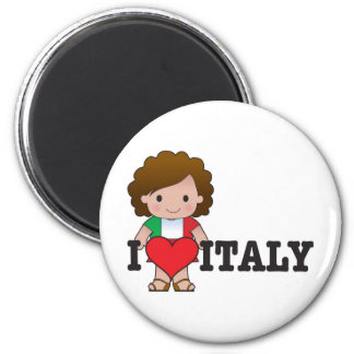 Love Italy 2 Inch Round Magnet
