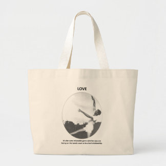 love-its-the-same-miserable-game-whether-you-are jumbo tote bag