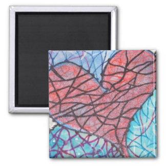 LoVe Iz FrEe 2 Inch Square Magnet