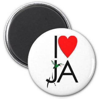 Love JA Refrigerator Magnet