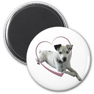 Love Jack Russell Dog Gifts 2 Inch Round Magnet