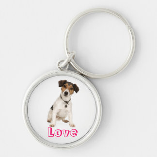 Love Jack Russell Terrier Puppy Dog Keychain