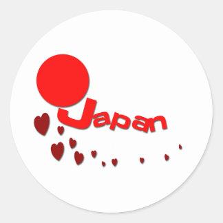 Love Japan Classic Round Sticker