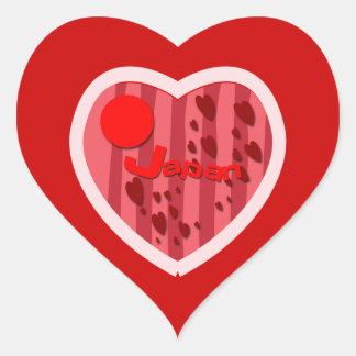 Love Japan Heart Sticker