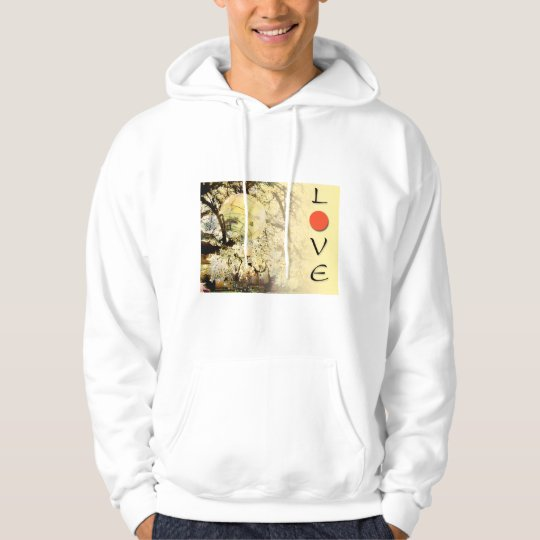 Love Japan Plum Blossoms and Lanterns Hoodie