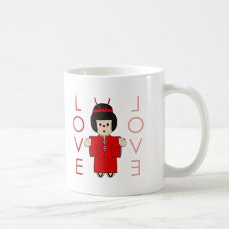 Love Japanese Doll Coffee Mug