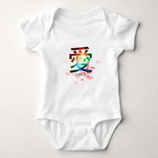 Love japanese word colorful katakana japan baby bodysuit
