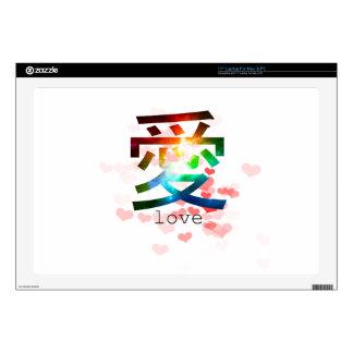 Love japanese word colorful katakana japan skins for laptops