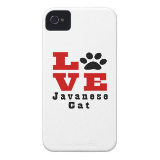 Love Javanese Cat Designes iPhone 4 Case